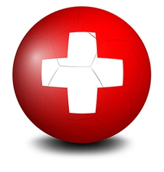 A soccer ball with the Switzerland flag vector