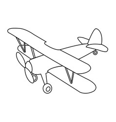 abstract old airplane vector image