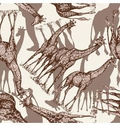 Animal print giraffe seamless pattern vector