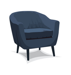 armchair on white background vector image