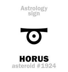 Astrology asteroid horus vector