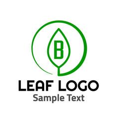 b leaf logo symbol icon sign vector image