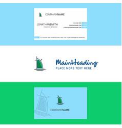 beautiful dubai hotel logo and business card vector image