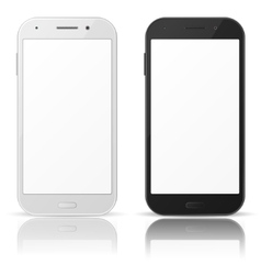 Black and white mobile phones vector