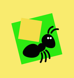 black ant with a load on its back vector image