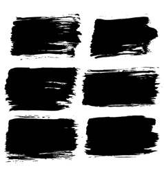 Black Painted Backgrounds Set vector