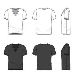 Blank v-neck t-shirt vector image