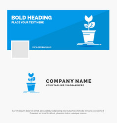 blue business logo template for adventure game vector image