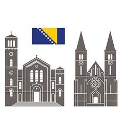Bosnia and Herzegovina vector image