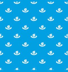 Brazil culture pattern seamless blue vector
