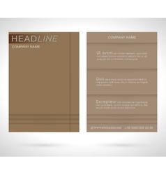 Brochure flyer template vector