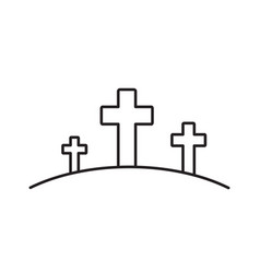 Calvary line icon vector