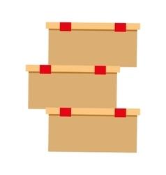 Cardboard boxes carton delivery shop online vector