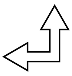 Choice Arrow Left Up Outline Icon vector image