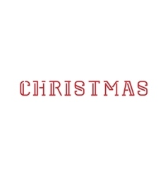 Christmas Merry 2016 text Template vector image
