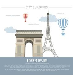 City buildings graphic template France Paris vector image