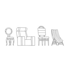 coloring book page chair comfortable seat vector image