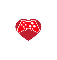 console gamer heart symbol love gaming passion vector image