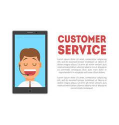 customer service banner call center technical vector image