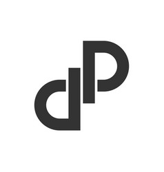 d p letter infinity logo template vector image