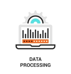 data processing icon vector image