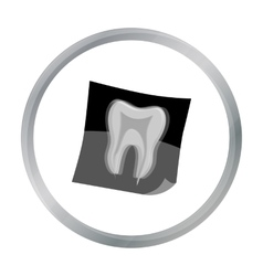 Dental x-ray icon in cartoon style isolated on vector