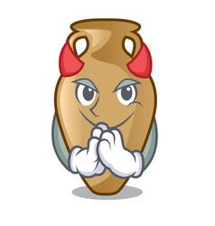 devil amphora mascot cartoon style vector image