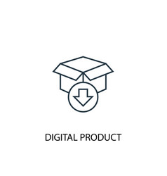 digital product concept line icon simple element vector image
