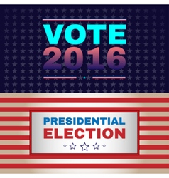 Digital usa election with 2016 vector image