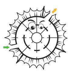 easy maze game for kids printable maze activ vector image