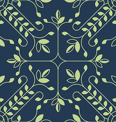 Elegant floral lineart pattern with leafs vector image