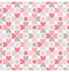 Floral seamless pattern Red pink gray brown and vector image