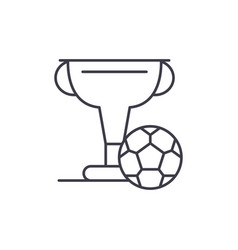 football cup line icon concept football cup vector image