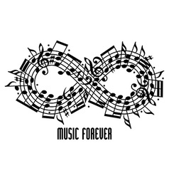 Forever music concept vector