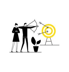 goal achievement - flat design style vector image