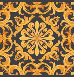 Golden baroque rich luxury pattern vector