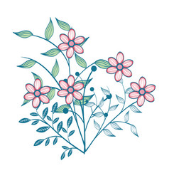 Hand-drawn flowers design vector