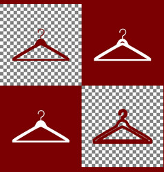 hanger sign bordo and white vector image