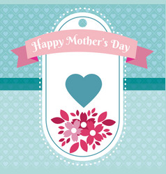 happy mothers day tag vector image