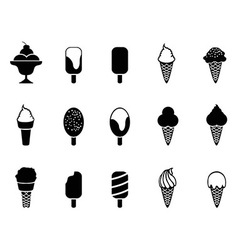 Ice cream icons vector