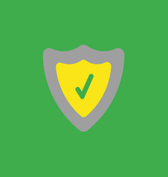 icon concept of guard shield with check mark on vector image