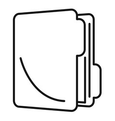 Inventory folder icon outline style vector