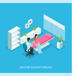 Isometric medical care template vector