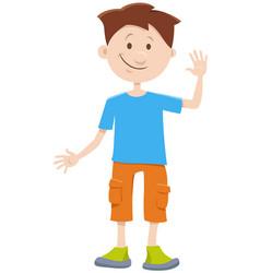 Kid boy cartoon comic character vector