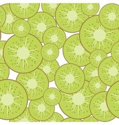 Kiwi seamless background vector image