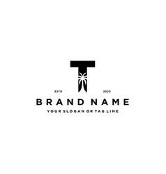Letter t palm logo design concept vector