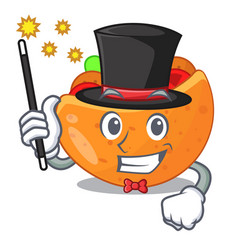 magician pita bread filled with vegetable mascot vector image