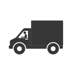 man truck delivery transport figure pictogram vector image
