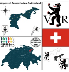 Map of Appenzell Ausserrhoden vector