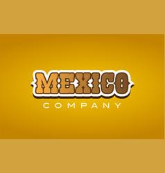 Mexico western style word text logo design icon vector